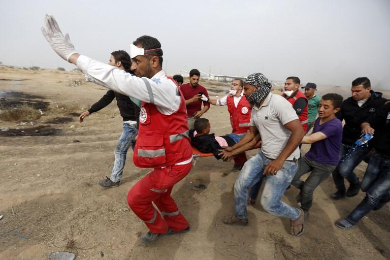 Négy palesztint agyonlőttek a gázai erőszakos tüntetések során