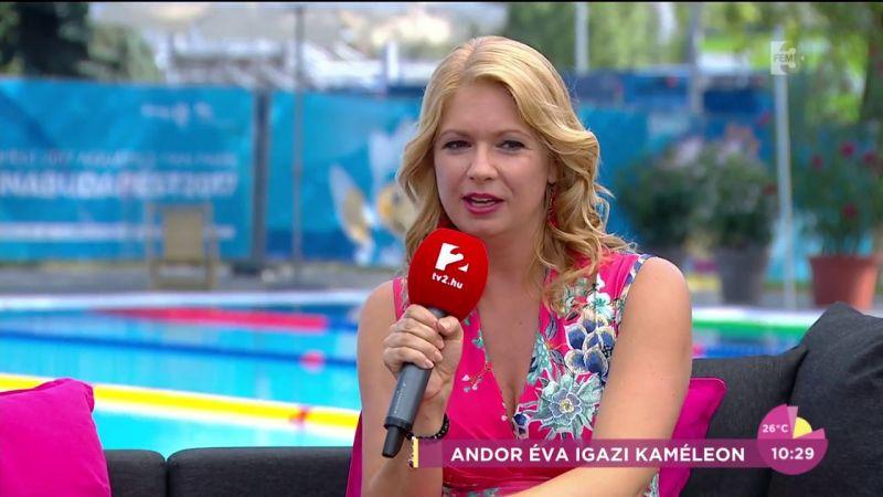 Így még nem sokszor láthattuk: bikiniben mutatta meg alakját Andor Éva, a TV2 híradósa