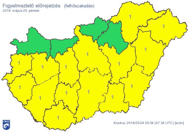 Budapest és 15 megye kaphat özönvizet a nyakába – ilyen lesz a hétvége időjárása