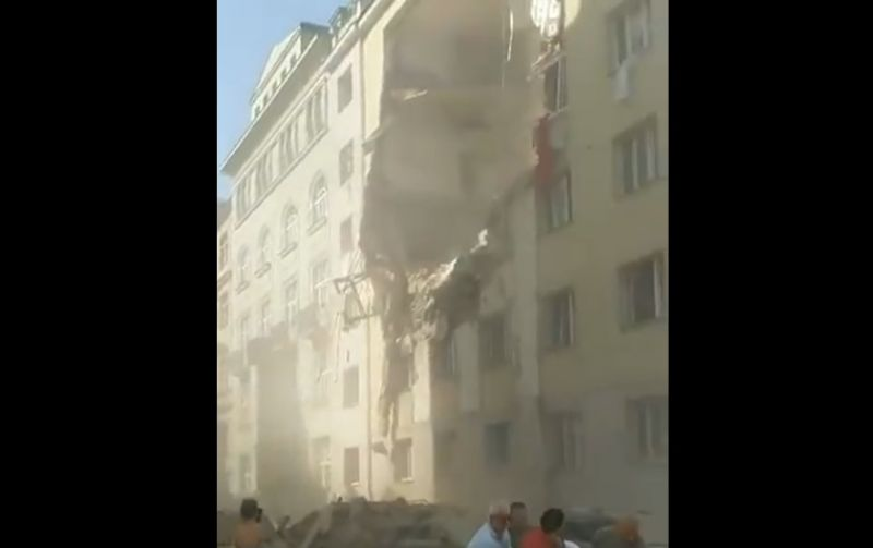 Hatalmas robbanás történt Bécsben, két lakóház részben összeomlott – videó
