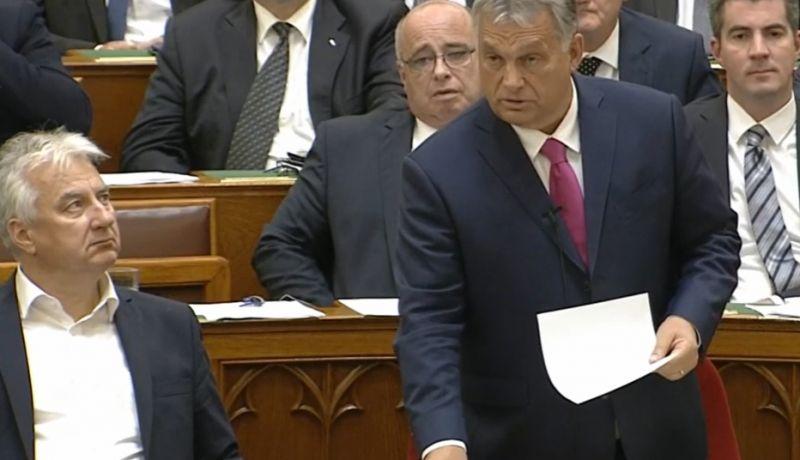 Megszólalt Orbán a parlamentben a Borkai-féle szexvideóról