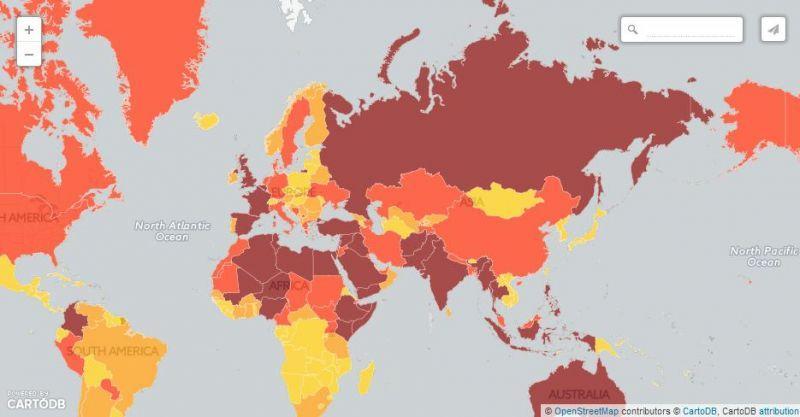 Világtérkép mutatja, hol várható terrortámadás