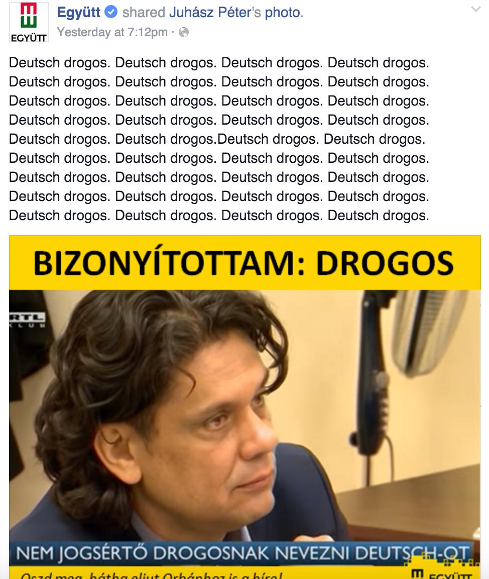 """""""Deutsch drogos"""", méghozzá harminchatszor"""
