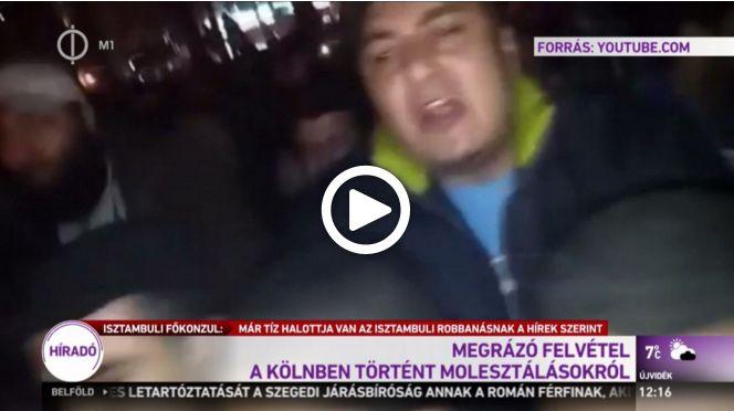 A közmédia egy kétéves videót adott ki szilveszteri kölni felvételként
