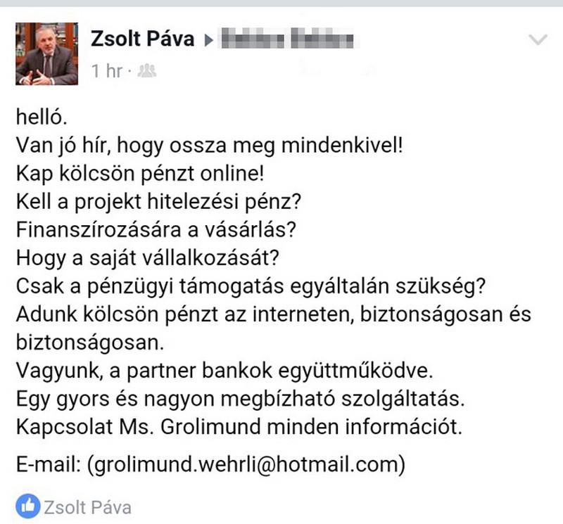 Hamis Facebook profil keseríti meg a pécsi polgármester életét