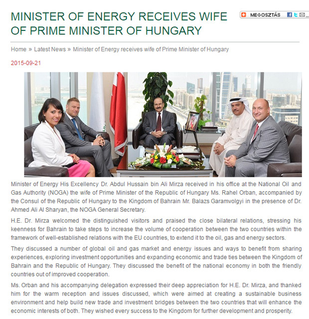 Megszólalt a konzul, aki részt vett Orbán Ráhelék bahreini tárgyalásán