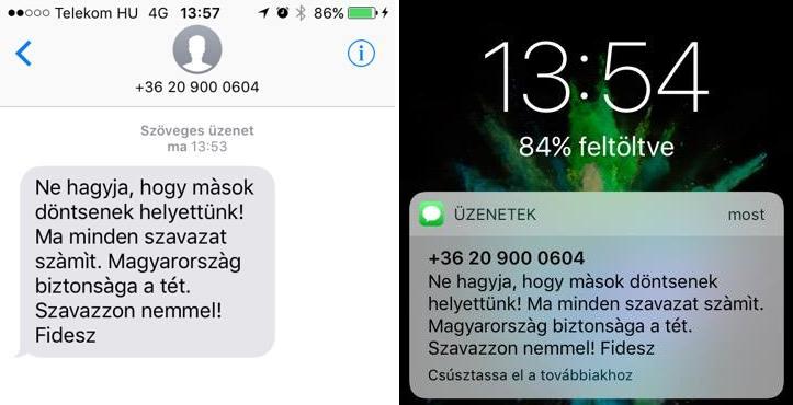 Veszettül küldözgeti az agitáló SMS-eket a Fidesz