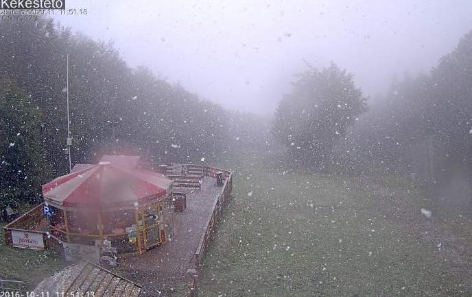 Szakadt a hó a Kékesen