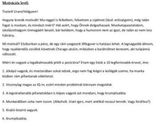 önéletrajz zárómondat Vicces önéletrajzot írt, ezen röhög a magyar inter  Propeller önéletrajz zárómondat