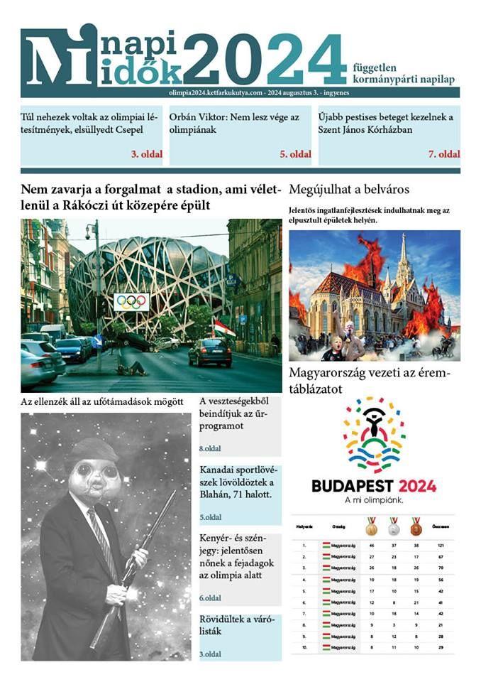 A Magyar Idők beperli a kétfarkúékat az olimpiai újság miatt
