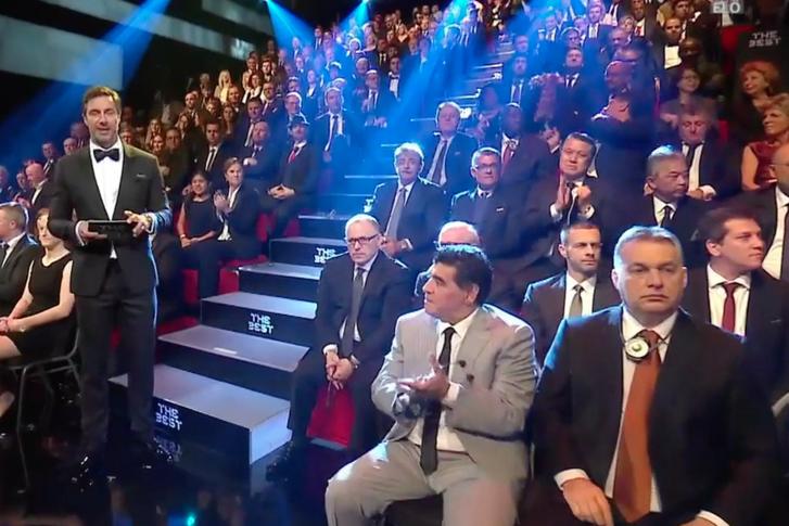 Világsztár mellett ült Orbán Viktor a FIFA díjátadó gáláján