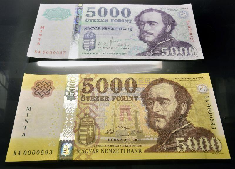 Márciusban jön az új 2000 és 5000 forintos címlet