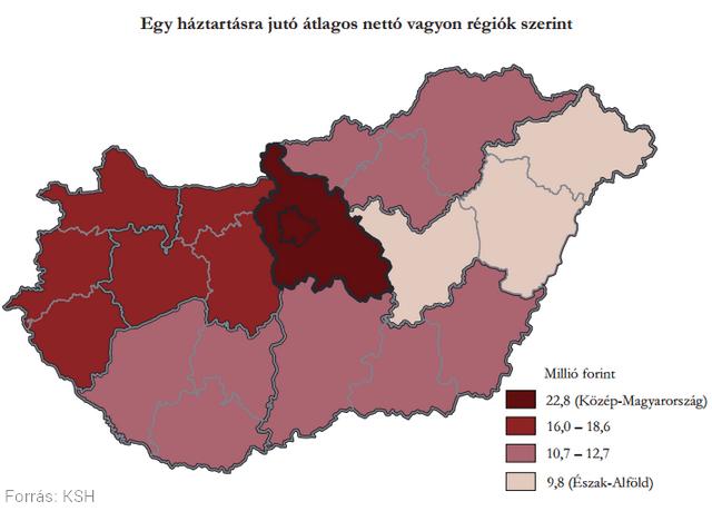Egyetlen ábrán láthatjuk, hol gazdagok és szegények az emberek Magyarországon