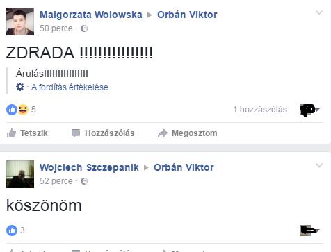 Interneten estek Orbán torkának a lengyelek