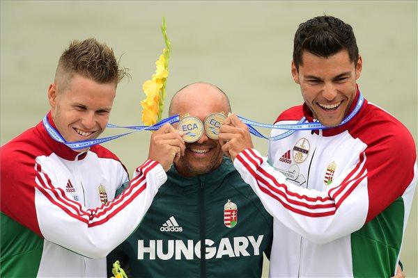 Két aranyat és egy bronzot nyertek délelőtt a magyarok a kajak-kenu Eb-n