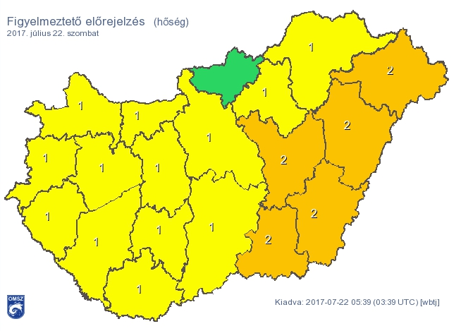 Hőség és heves zivatarok lehetnek szombaton az országban