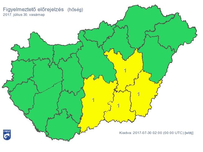 Hőség az Alföldön, zivatarok a Dunántúlon – ez várható vasárnap