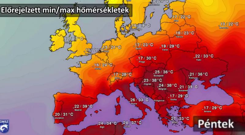 Eddig tarthat a brutális hőség Magyarországon – jön az enyhülés?