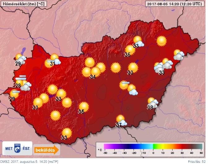 Újabb melegrekord dőlt meg ma hajnalban a fővárosban