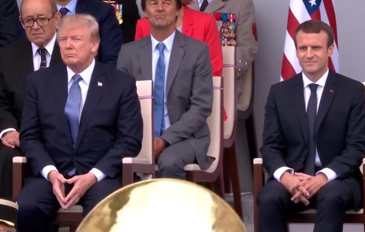Trump kínosan feszengett, amikor Daft Punkot játszott neki a francia katonazenekar