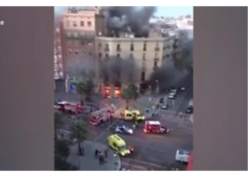 Pékség robbant fel Barcelona közepén – videó