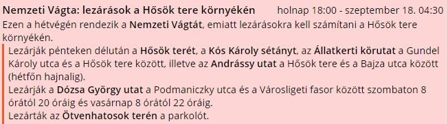 Jön a Nemzeti Vágta, lezárják az Andrássy utat és a Hősök terét – mutatjuk a részleteket