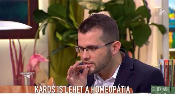 Várja a halált Novák Hunor, aki élő adásban adagolta túl a homeopátiás altatószert