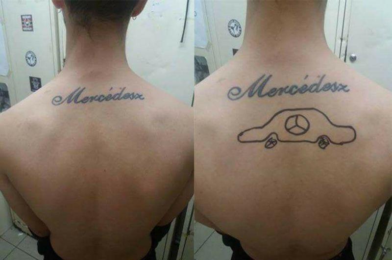 Viccesen korrigálta szakítás után barátnője magára tetováltatott nevét egy magyar srác