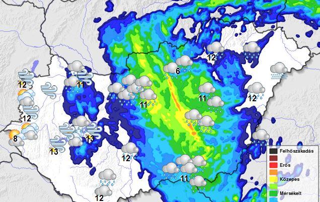 Budapestre és kilenc megyére adott ki figyelmeztetést a meteorológia