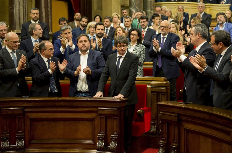Nyilatkozatban üzent Katalónia a spanyol kormánynak
