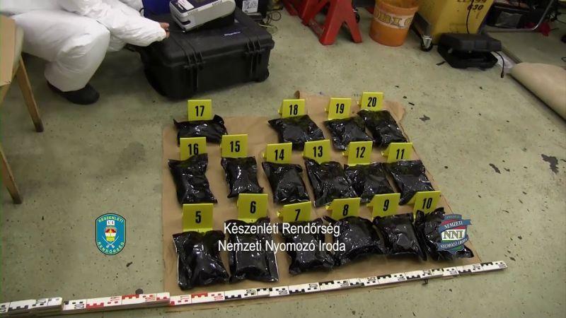 38 milliós szállítmánnyal bukott meg Hegyeshalomnál a Hollandiából jött drogfutár