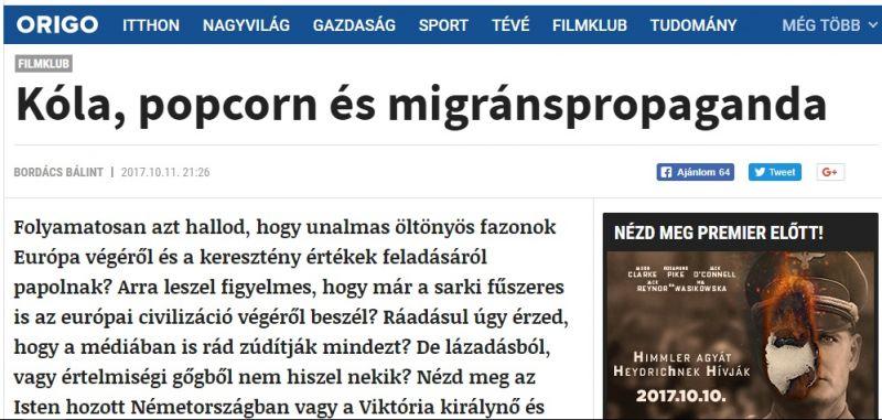 Egy migránsellenes cikk miatt felmondott az Origo Filmklub összes munkatársa