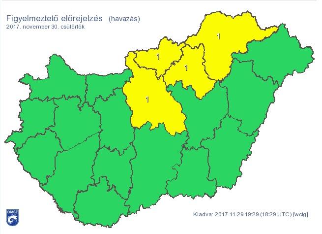 Több centiméternyi friss hó hullhat reggelre Budapesten és több megyénkben