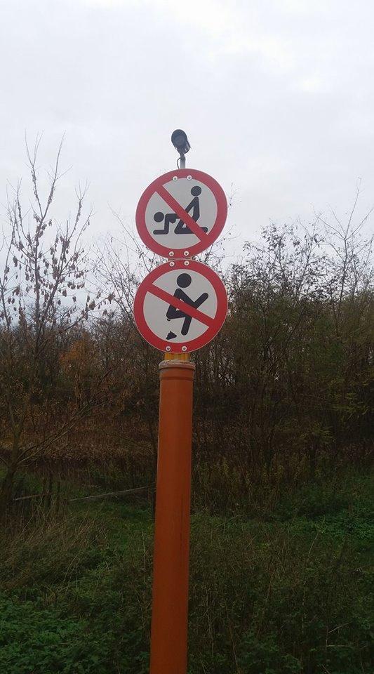 Ilyen tiltó táblákat még nem láttak Magyarországon – fotó