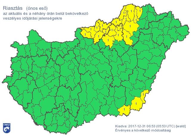 Ónos eső miatt adtak ki riasztást több helyen is