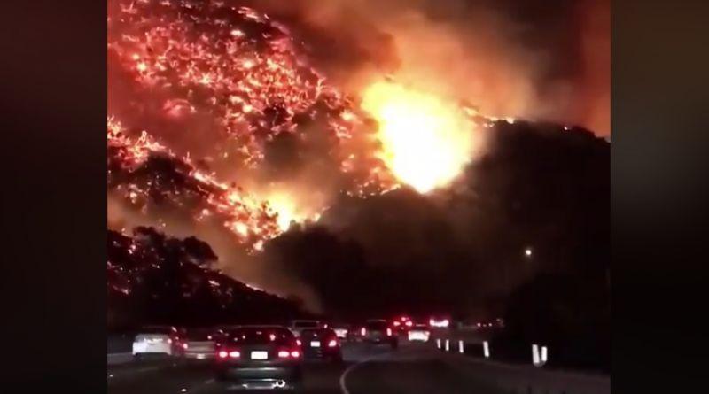 Rémisztő felvételek a kaliforniai tűzvészről – bevezették a szükségállapotot