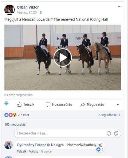 Gyurcsány trollkodott egy kiadósat Orbán Facebook-oldalán