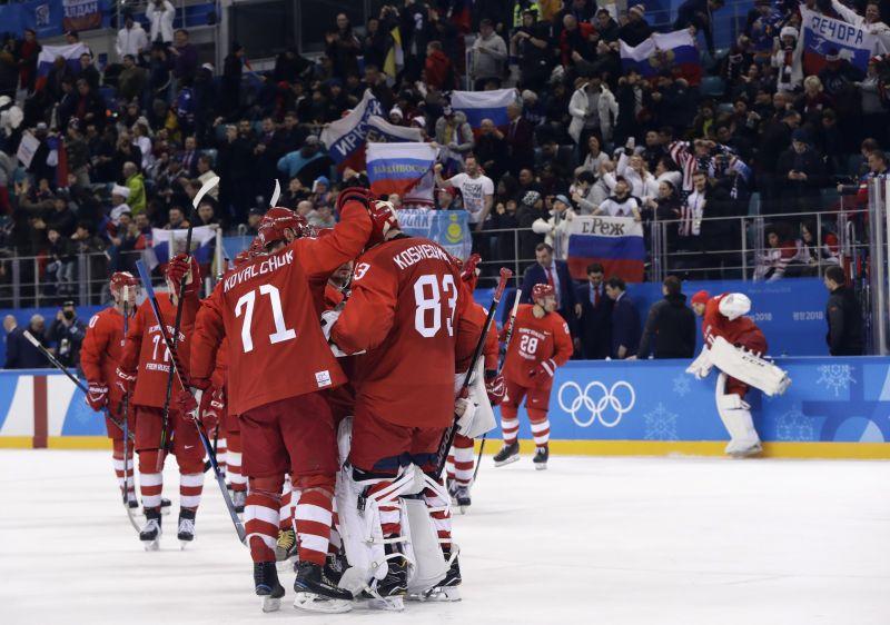 Negyeddöntőben az orosz férfi hokicsapat a téli olimpián