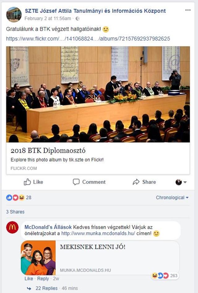 Tárt karokkal várja a frissen végzett diplomásokat a McDonald's