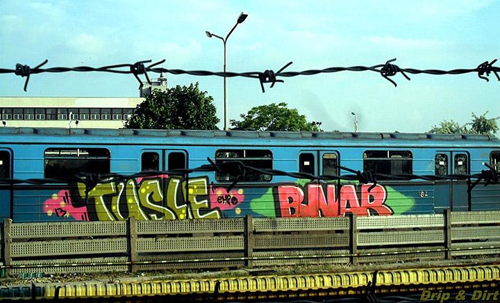 Graffitesek lekapcsolták a feszültséget a metrón, hogy összefújhassanak egy járművet