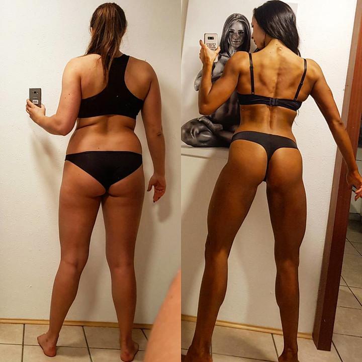 Elképesztő! Két hónap alatt lett testépítő egy fiatal lány