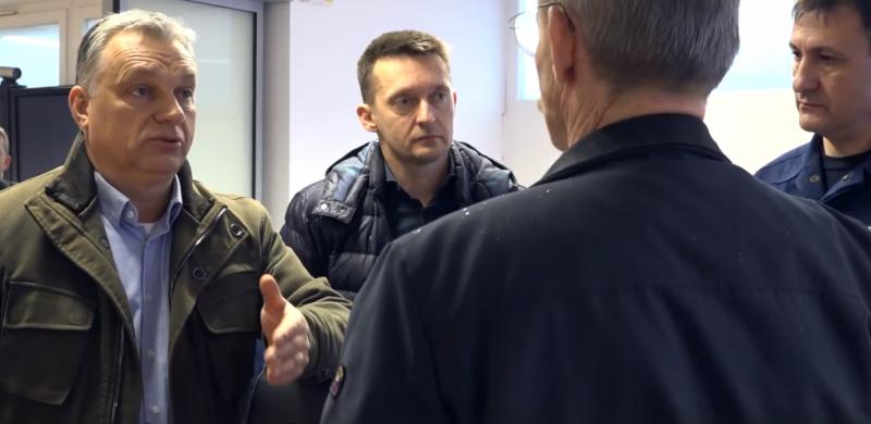 Orbán Viktor megtekintette a hóhelyzetet