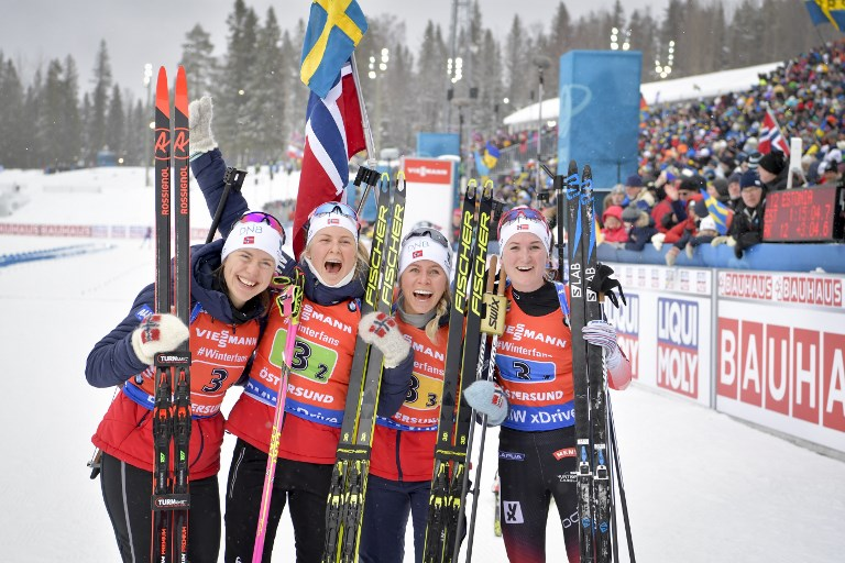 A norvégok nyerték a női váltót