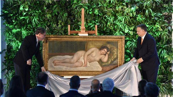 Így leplezte le Orbán a Renoir-festményt – videó