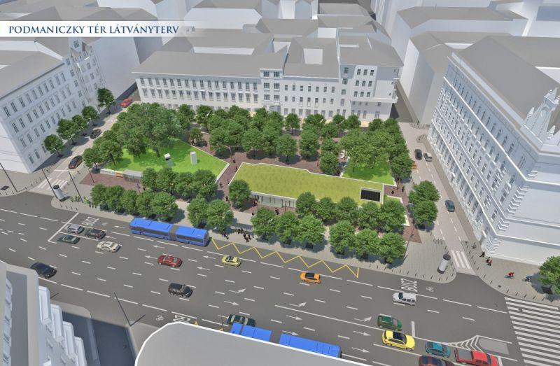 Így néz majd ki a teljesen megújult Vörösmarty és Podmaniczky tér a fővárosban – fotó
