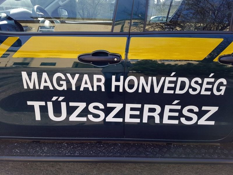 Robbanótest kerülhetett elő Debrecennél a a 4-es főút mellett