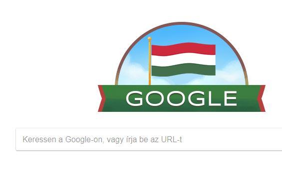 A Google is nemzeti lobogóval ünnepel ma