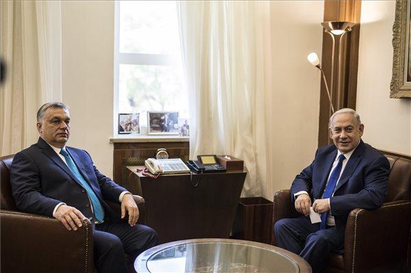 Netanjahu: a magyar kormány ellenzi az antiszemitizmust, és a magyar zsidók félelem nélkül élnek