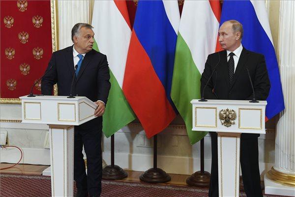 """Orbán: """"megbecsüljük a kapcsolatunkat Oroszországgal"""""""