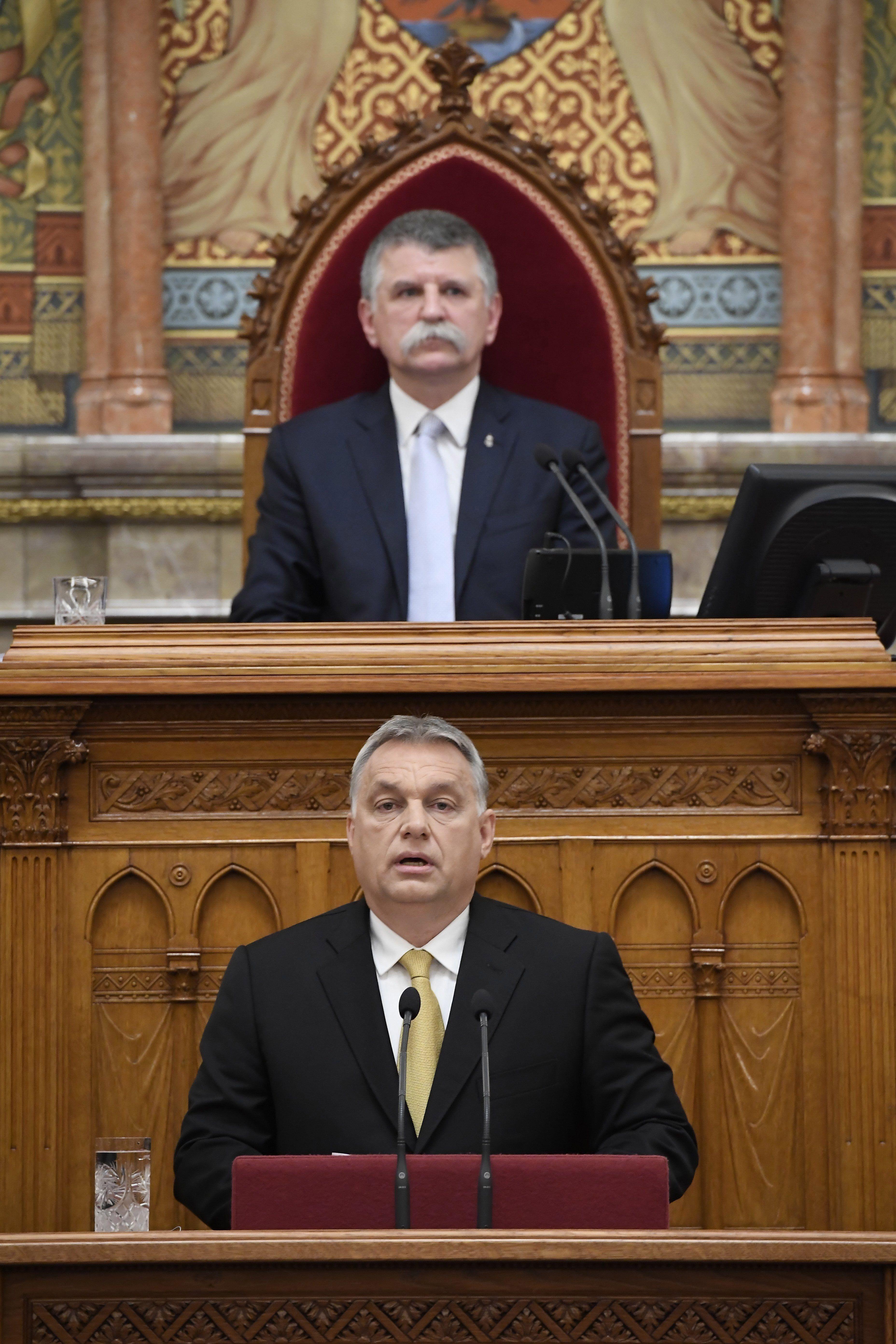 Kövér László: a magyar demokrácia ünnepe lesz, ha a kormány a Várba költözik